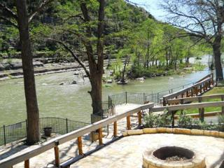 Tiki Lodge on River Road! Right along the Guadalupe River!!