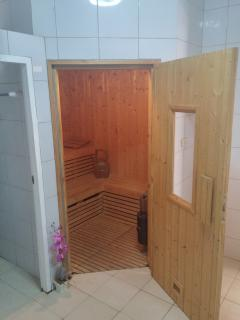 There are 2 saunas in the complex (separate for men and women) 150 baht charge per hour.