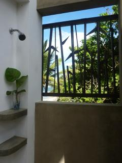 Ocean view outdoor shower...