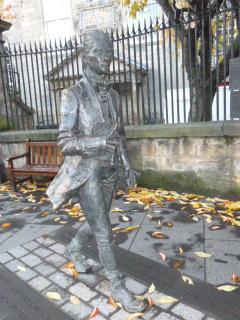 Around the corner - statue of ......................