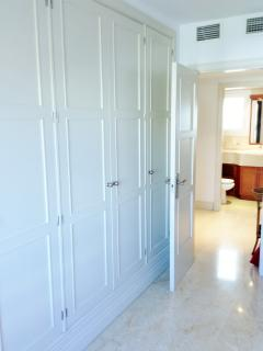 Big closets in every room