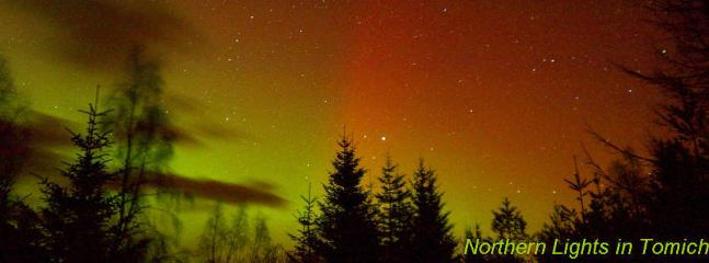 The northern lights as viewed from Tomich!