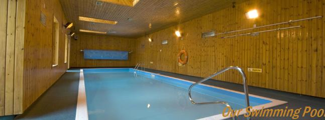 Indoor heated swimming pool.  Open April to October.