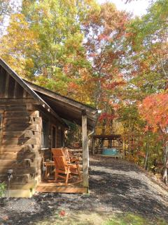 The hot tub is on a covered platform nestled on the side of the woods. Enjoy complete privacy while enjoying the...