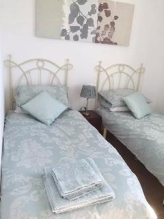 Bedroom 2 - duck egg blue bedding by Laura Ashley