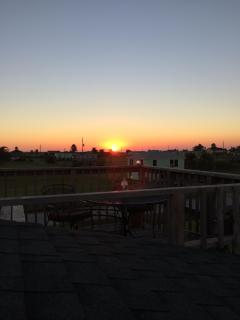 another beautiful sunset.  This photo was taken from the deck of the house.