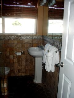 Tommy Bahama marble and stone shower