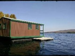 Moosehead Lake 'floating' camp, Greenville Junction