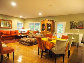 The favorite gathering place is the open living room with soft and cozy furnishings