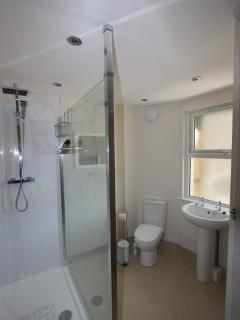 Ground floor shower room with large walk in shower
