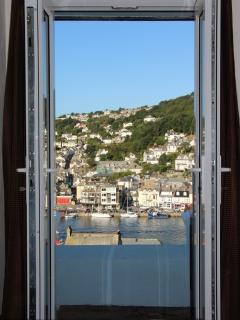 Top floor front bedroom harbour views