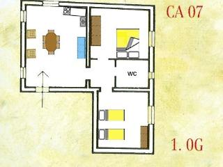2 bedroom Florence apartment with swimming Pool 127 - TFR61