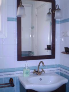 mirror over sink and vanity unit