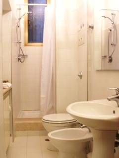 The bathroom includes a shower, wc and bidet.