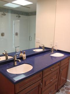 Double sink in second bathroom