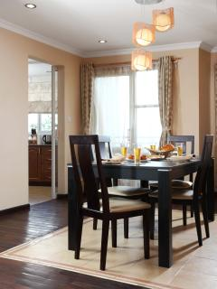 Brunch setup, Dining and kitchen view, Standard apartments