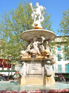 The 18th century Neptune Fountain in Place Carnot.
