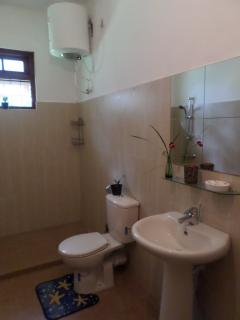 Bathroom with hot water facility