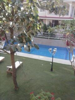 Swimming Pool view from balcony