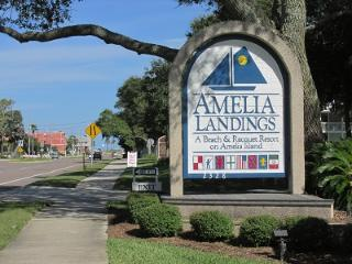 Entrance to Amelia Landing's Resort