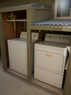 The full size washer and dryer are stocked for use.