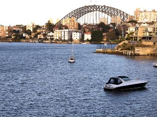 View of Sydney Harbour Bridge from apartment