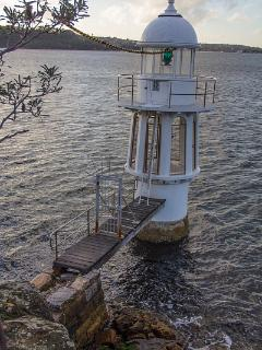 Lighthouse on Cremorne Point peninsula
