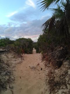 Trail entrance to Long Bay Beach