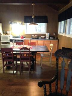 dining area with kitchen....open space with great room