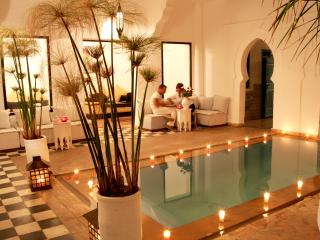 Riad chamali, large typical riad in the medina, Marrakech