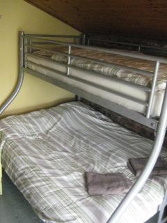Bunk beds in rear bedroom