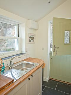 The utility room allow you to rinse your beach gear and pop your self in the wet room.