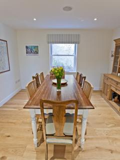 Plenty of space for dining and a large map of Pembrokeshire to decide where to explore next