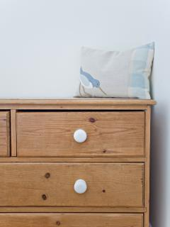 Soft furnishings are by Emma Iles, Seaforth designs Solva; as seen in County Living September 2014!
