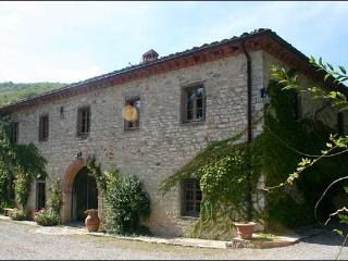 6 bedroom villa in Tuscany with adjacent barn and pool. Sleeps 16.