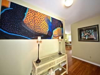 This Condo is decorated with stylish art and personality