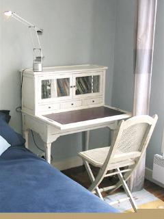 Desk in the bedroom