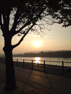 Walk to the Danube in two minutes and enjoy the sunset