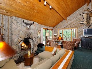 Living area with fireside conversation pit