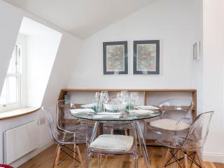 There is dining space for up to 6 people, there are more chairs provided if needed