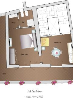 Pianta appartamento 4° piano