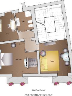 Pianta appartamento 1° - 2° - 3° piano