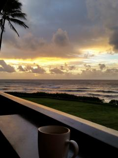 Sunrise from the lanai...contributed by one of our guest, D&S Gold