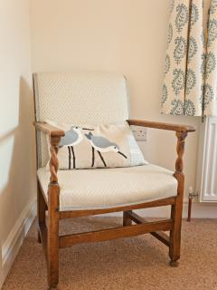Fabrics by Vanessa Arbuthnott, cushions by Emma Iles of Solva, as seen in Period Living Dec 2014