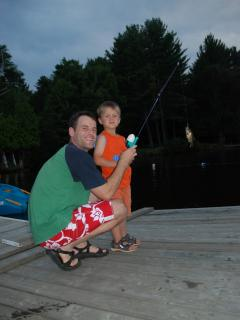 Clyffe House: Many kids have caught their first fish off the dock!