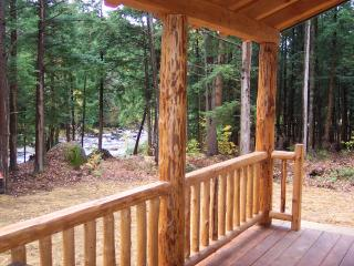 Adirondack Log Cabin on Pristine River, Glenfield