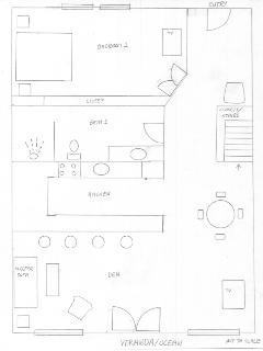 Condo A6: Rough sketch of lower level
