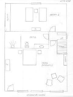 Condo A6: Rough sketch of upper level