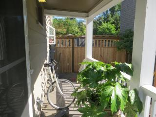Private entry is from the side porch.
