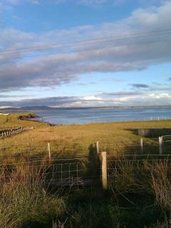 View from house to Aignish beach